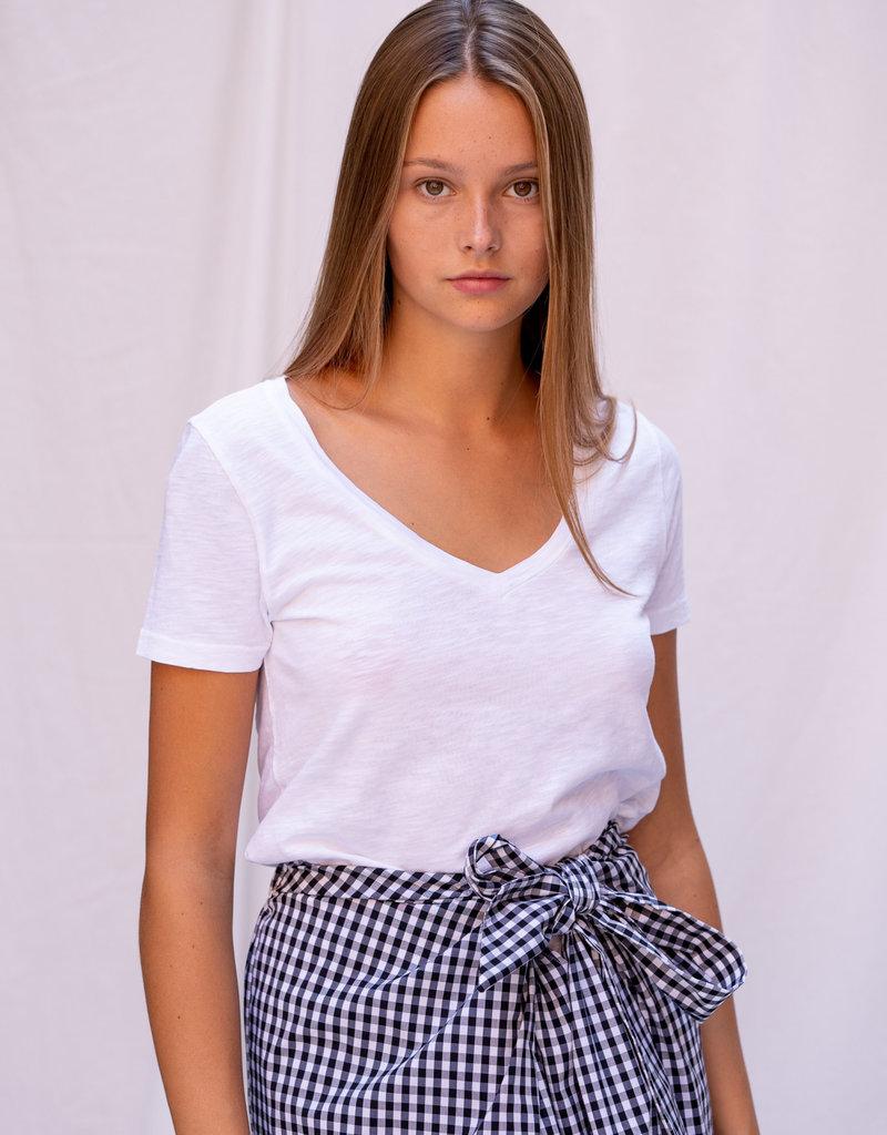 T-Shirt Short Sleeve V-Neck White