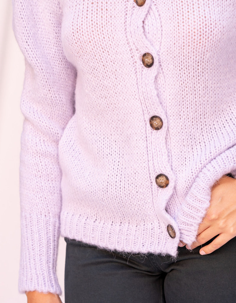 Happy 13 Gilet with puff sleeves Lilac