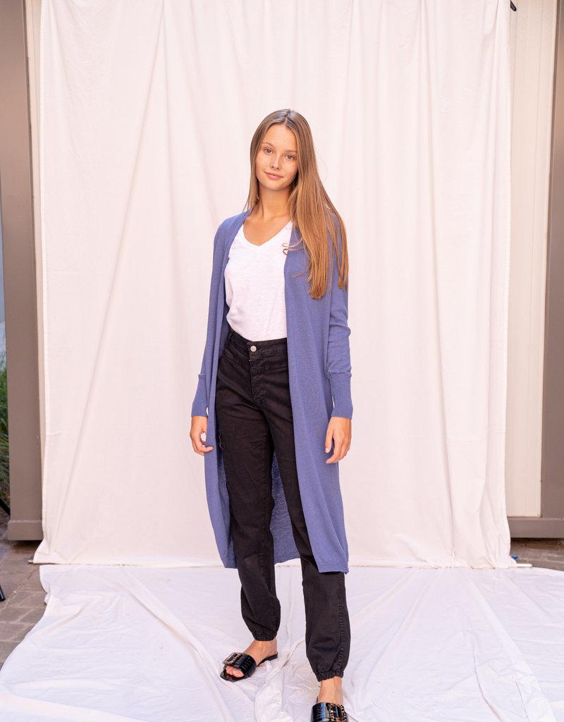 Happy 13 Gilet Long Jeans Blue