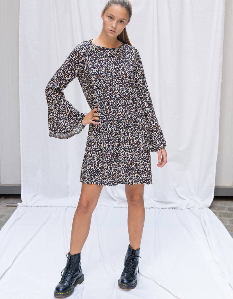 Happy 13 Dress Tess Panter - Marcurato/Beige
