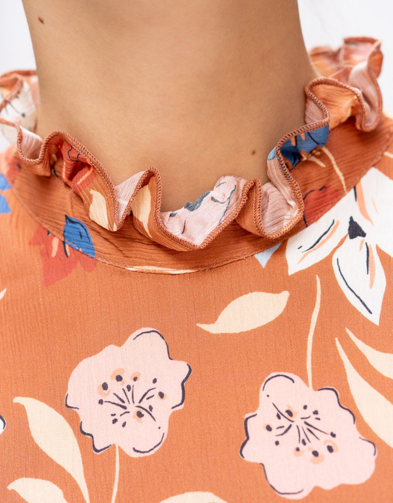Happy 13 Dress Poppy - Flower print
