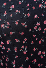 Happy 13 Skirt Annemie - Black with pink flowers