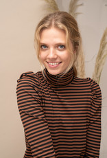Happy 13 Sous Pull Suzy Striped- Black/Camel