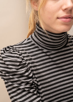Happy 13 Sous Pull Suzy Striped- Black/Grey