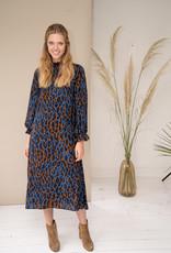Happy 13 Dress Poppy - Blue panter print