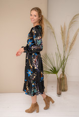 Happy 13 Dress Annelore - Black with flower print