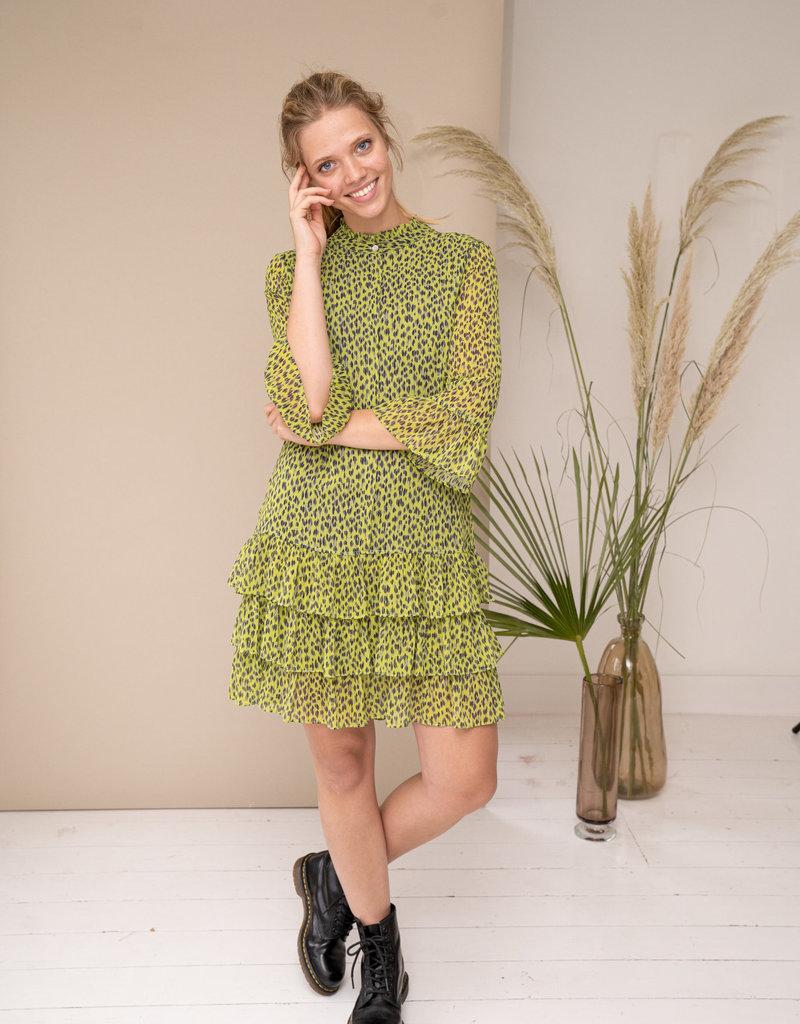 Happy 13 Dress Delphine - Pistachio green/black