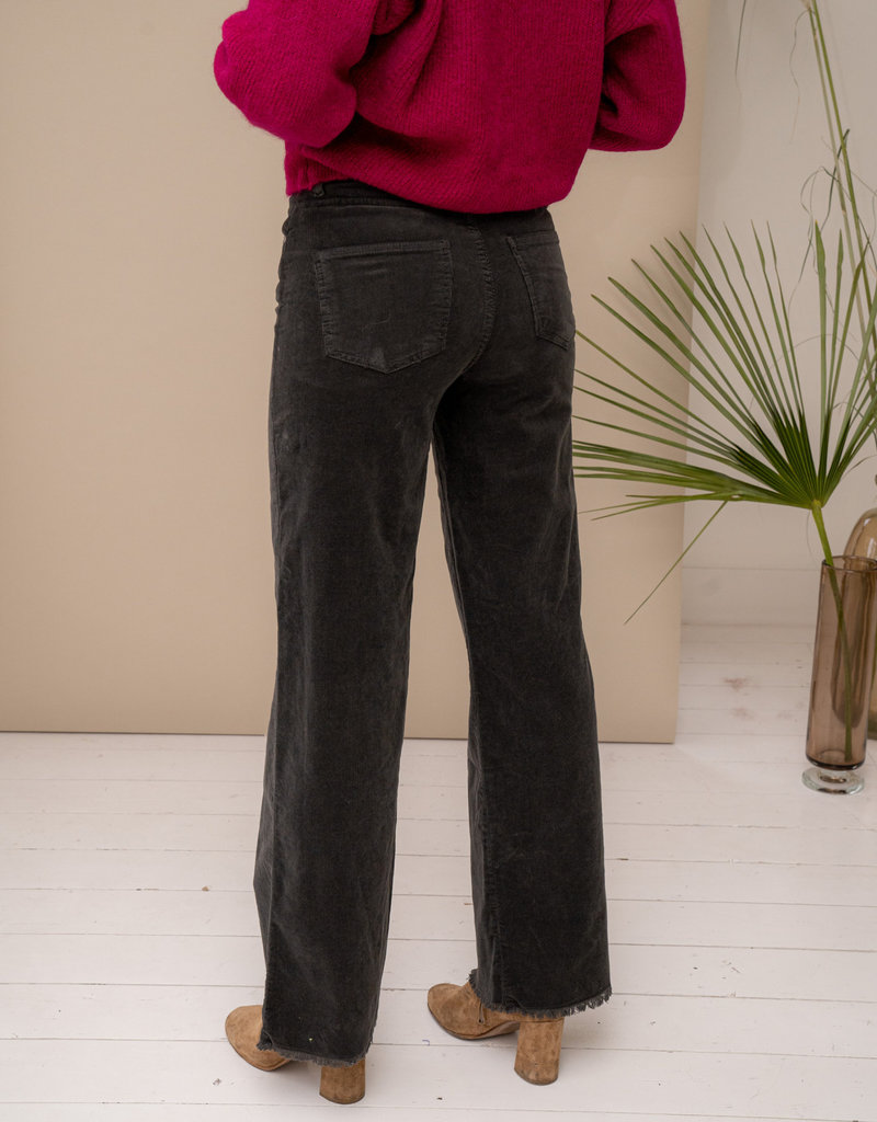 Happy 13 Pants James Corduroy - Dark Grey