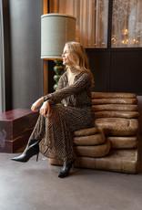 Happy 13 Dress Sabine - Black/Camel Print