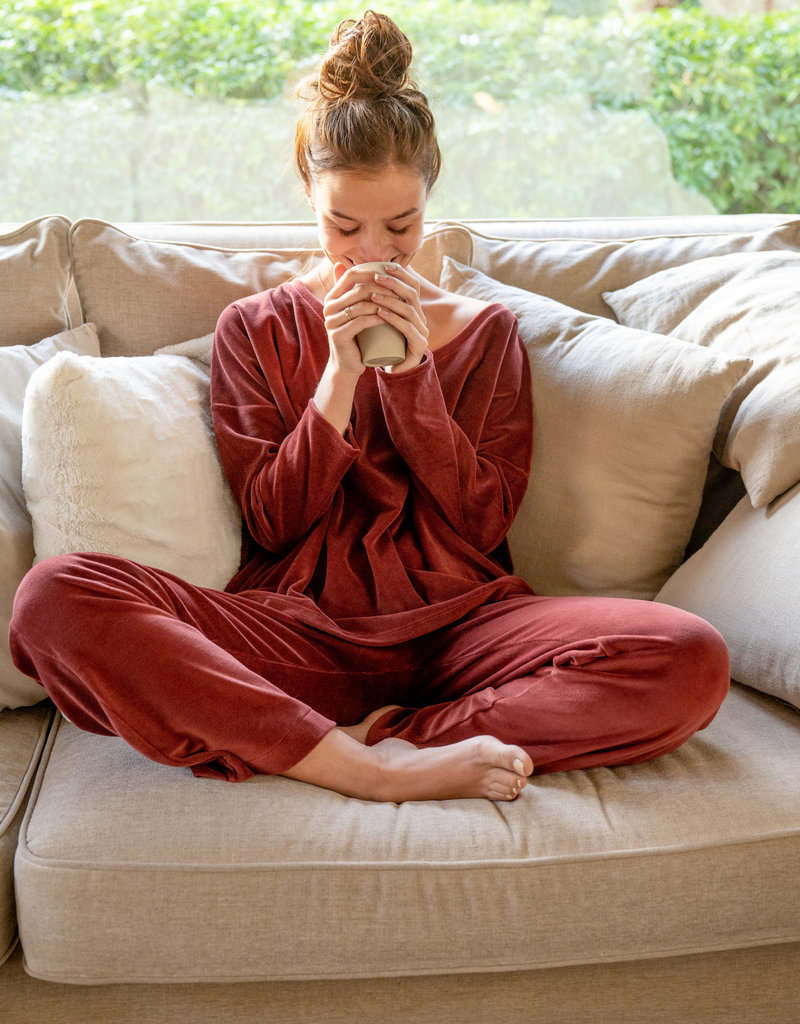 Rob Velvet Sweat Pants - Hot Chocolate
