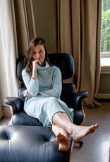Nathalie Dress Velvet  - Cloud Blue