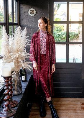 Happy 13 Kimono Violetta Sequins - Red