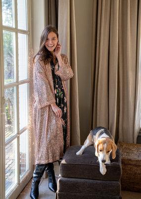 Happy 13 Kimono Violetta Sequins - Rosé