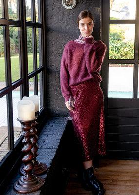 Happy 13 Skirt Amaryllis Sequins - Red