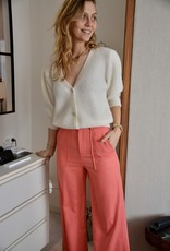 Gilet Nick Short Sleeves Kristal Buttons-Panna