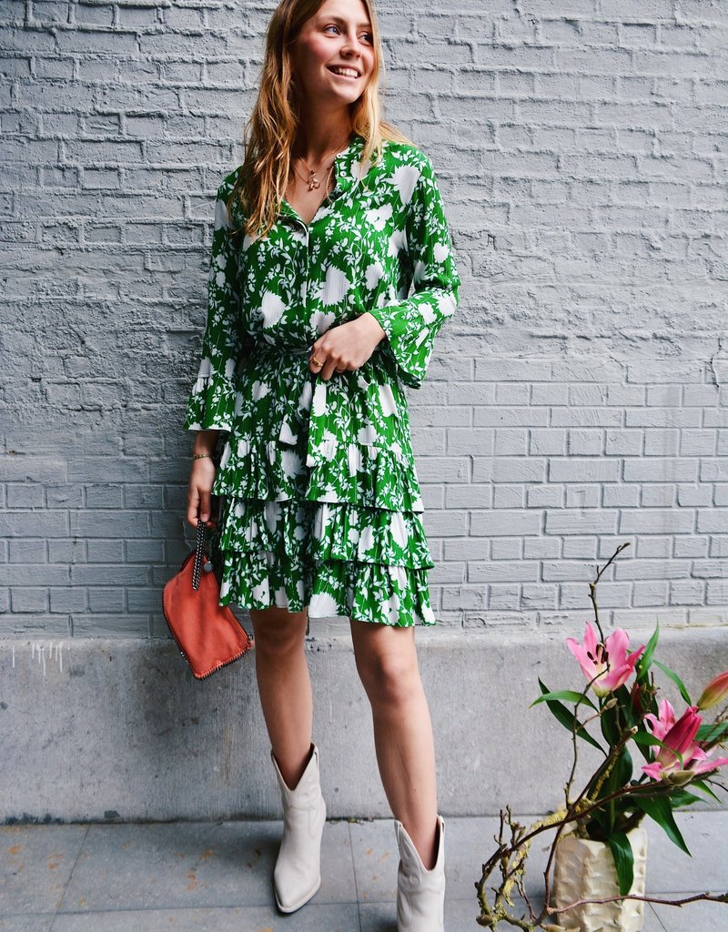 Dress Delphine - Green/White