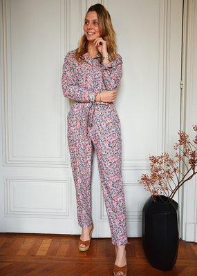 Jumpsuit Sylvie - Pink Flowers
