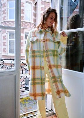 Coat Happy Checkers Yellow-Lavender