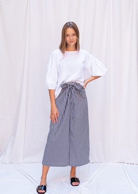 Skirt Gabriella - White/Black Vichy