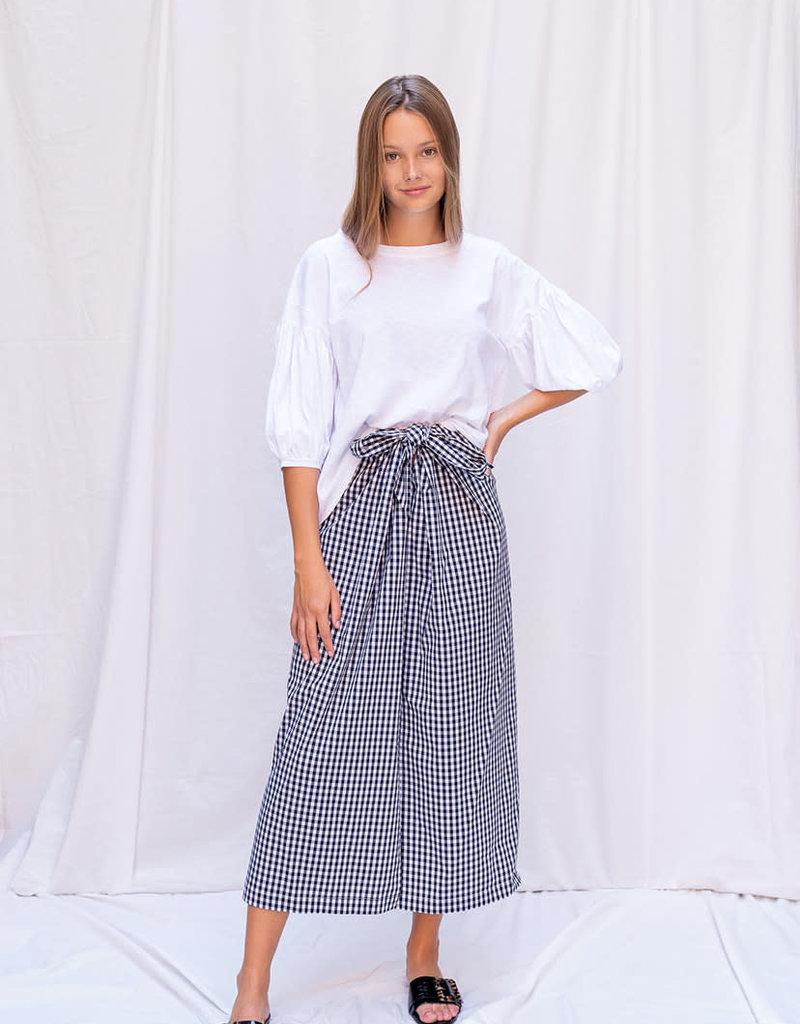 Skirt Gabriella - White/Black Vichy