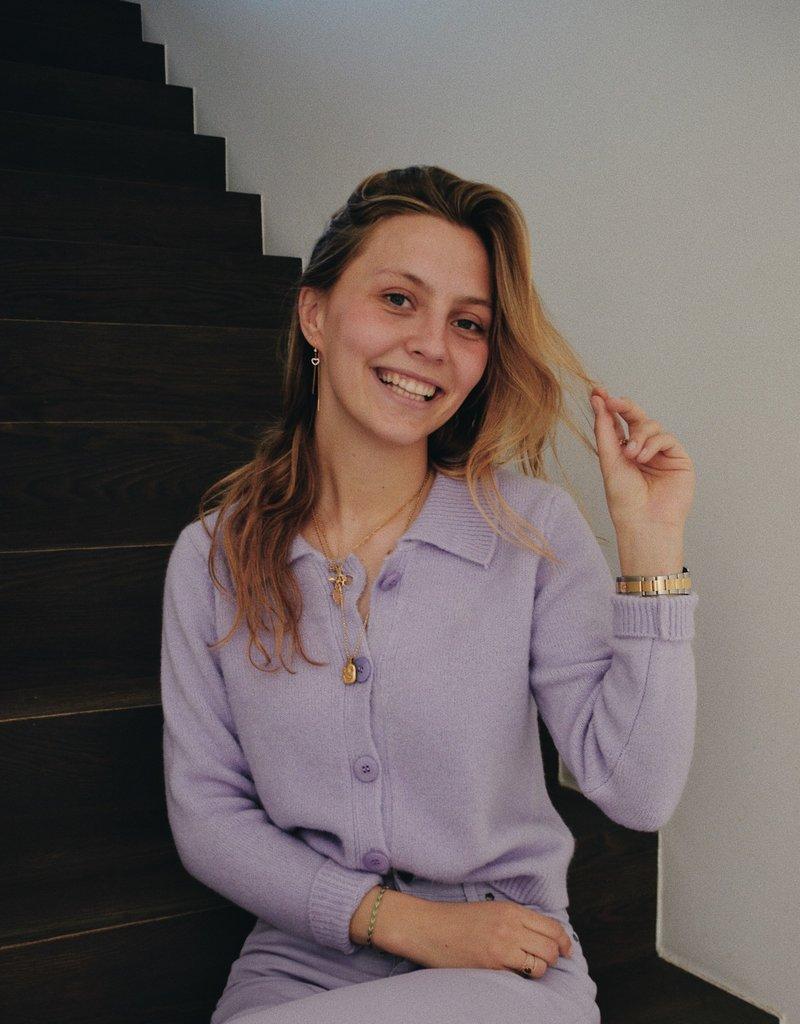 Gilet Karla wit Collar - Lila