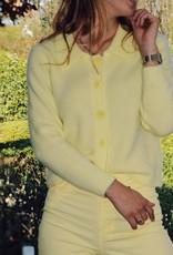 Gilet Karla with Collar - Light Yellow