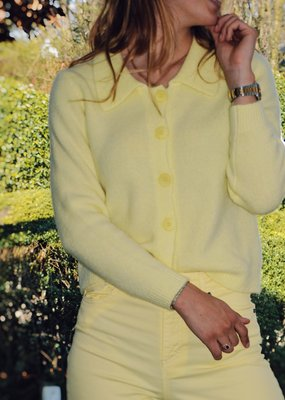 Gilet Karla with Collar - Light Yellow