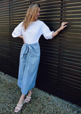 Skirt Gabriella - White/Green Vichy
