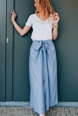 Skirt Gabriella - Blue with Copper Print