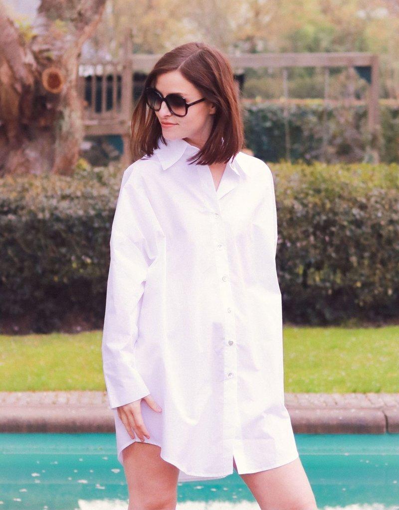 Oversized Shirt - White - Ariel