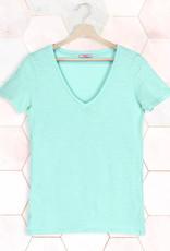 T-Shirt SS V-Neck - Pastel Green