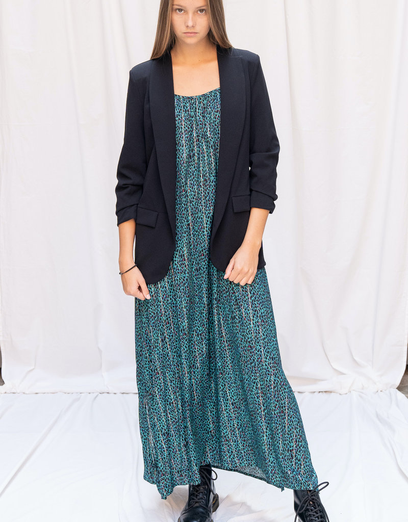 Dress Alida - Panter Black/Green