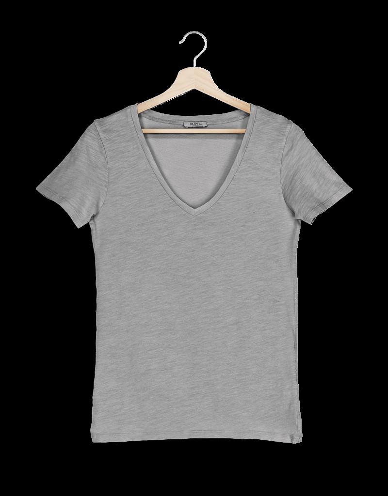 T-Shirt SS V-Neck - Light Grey