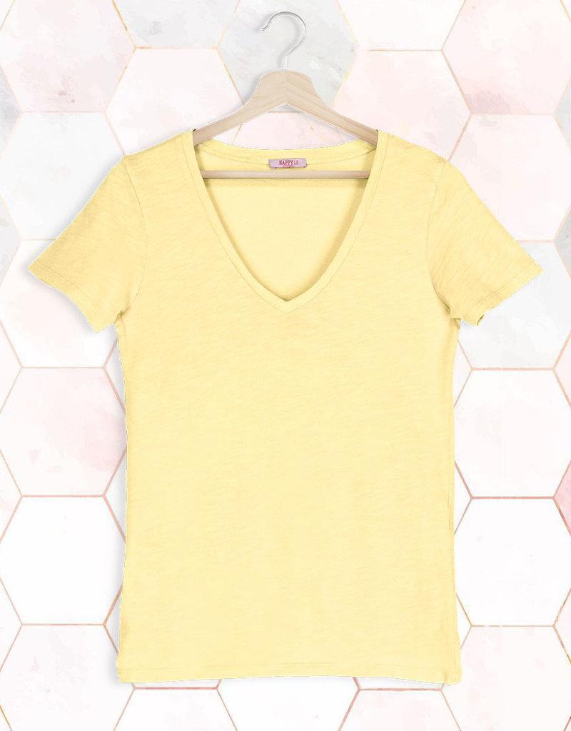 T-Shirt SS V-Neck - Yellow