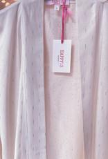 Kimono Violetta - Off White / Silver print