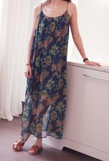 Dress Alida - Blue/Green print