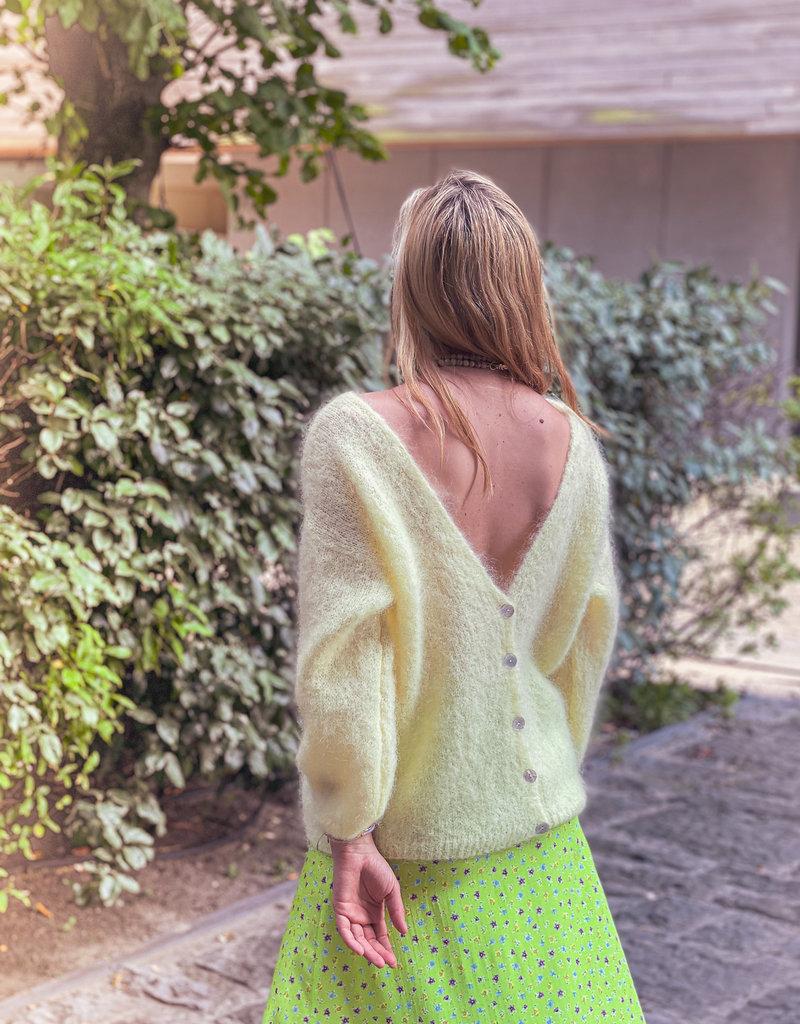 Gilet V Neck Bea - Pastel Yellow