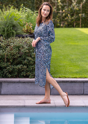 Dress Mia - Black and Blue print