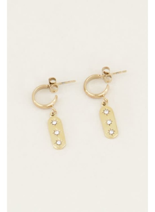 Earring - Triple - Star / Gold