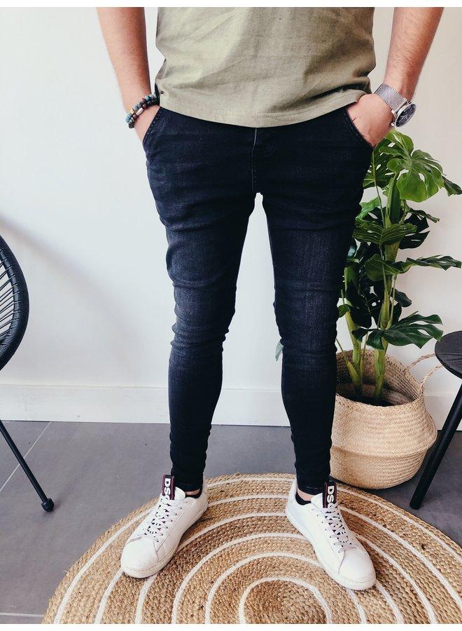 Jeans - Core Skinny Denim / Washed Black