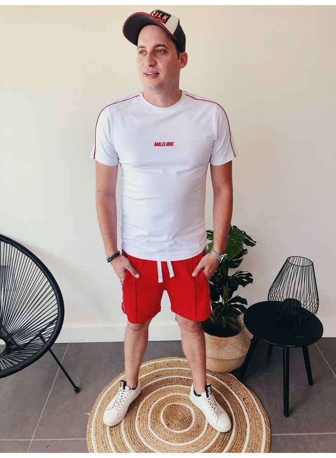 Malelions Twinset T-Shirt / White-red