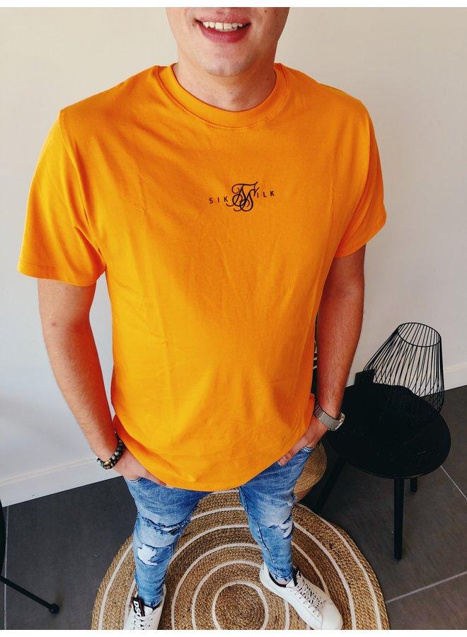 Square Hem Tee - Oversized / Orange