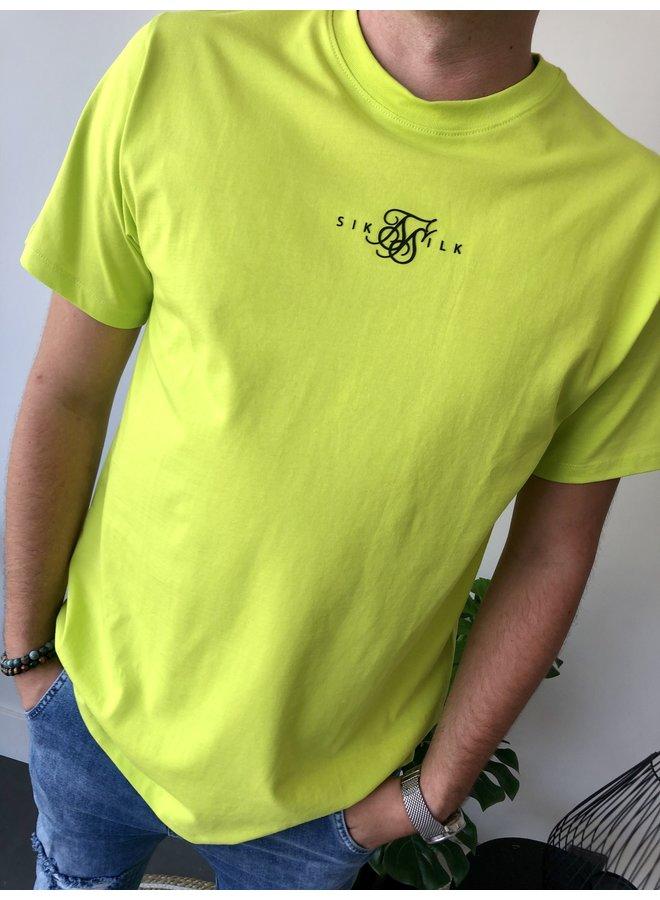 Square Hem Tee - Oversized / Lime