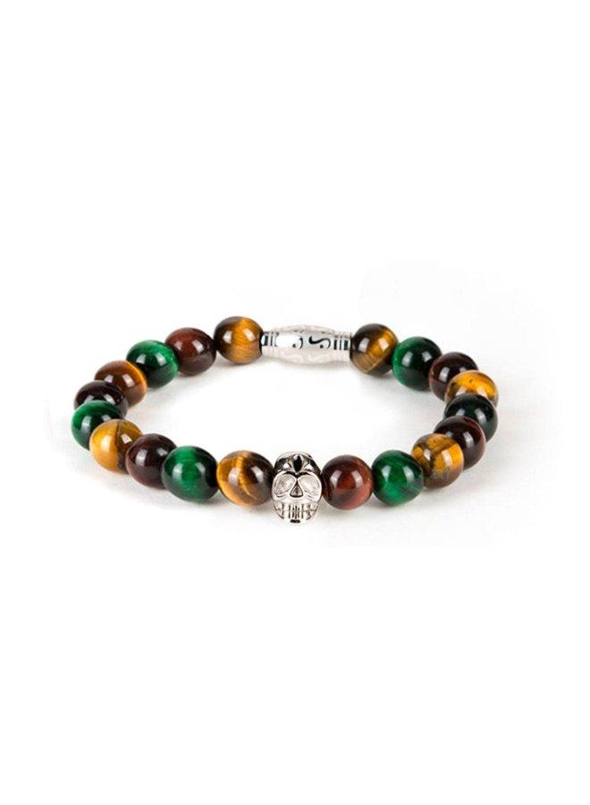 Bracelet - Multicolor - Silver Skull