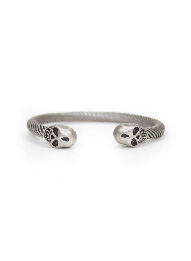 Bracelet - Metal Cuff - Silver