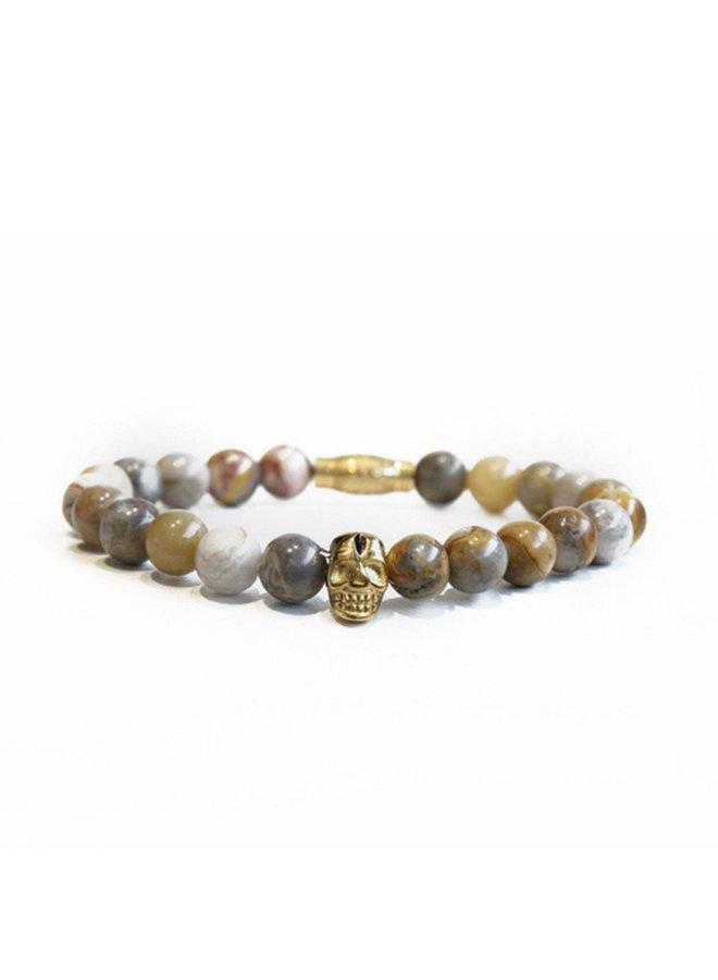 Bracelet - Sandstone - Gold Skull