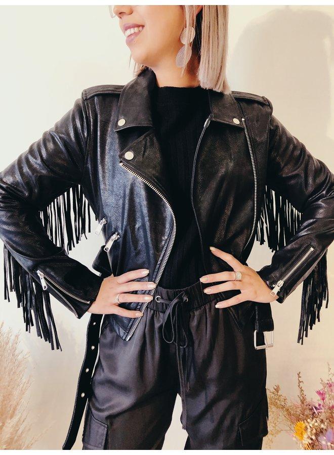 jacket - Biker - Leather - Fringe