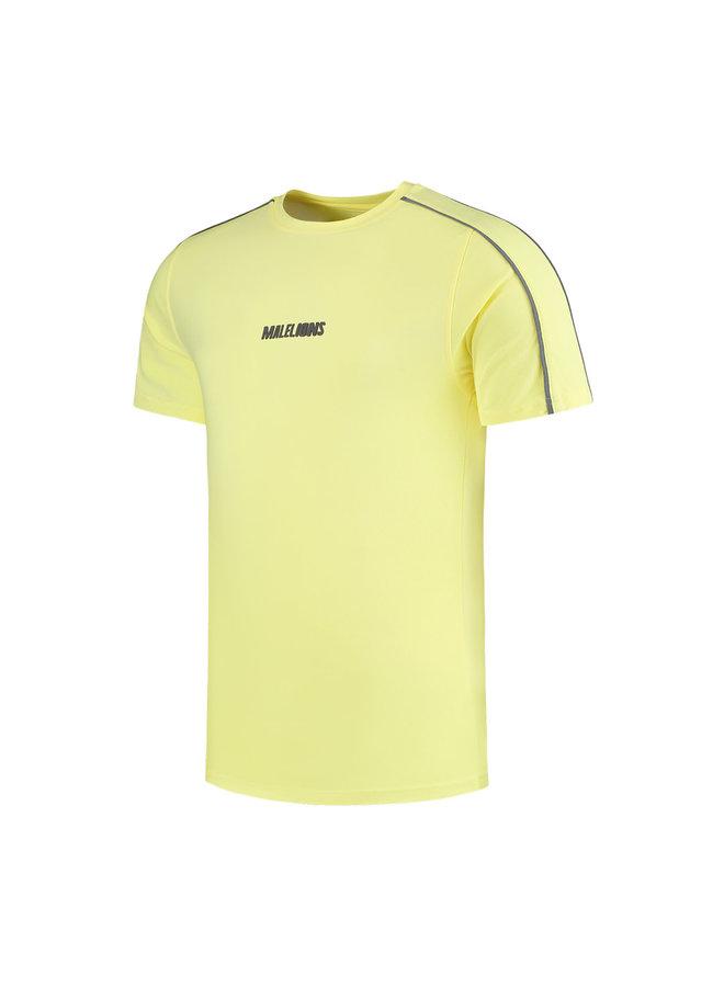 Malelions Twinset T-Shirt - Yellow - Matt Grey