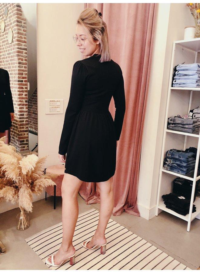 Dress - Rowan - Puff Sleeve / Black