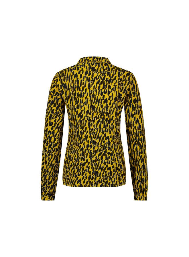 Blouse - Belle / Animal print - Yellow